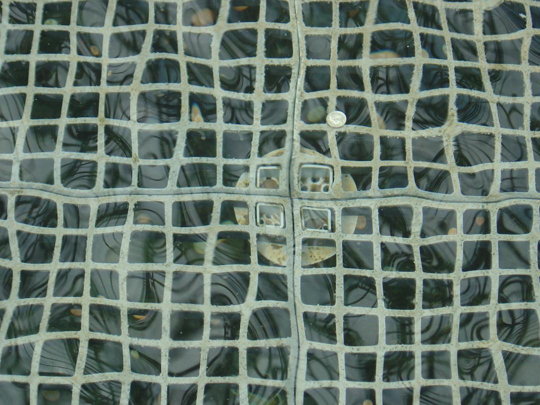 Reflection, Grate, Water  refraction – Fiberglass Materials Sample