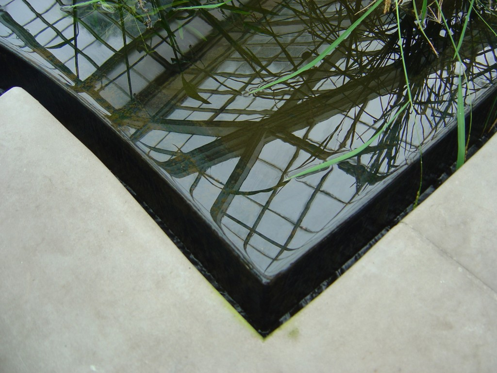 Reflection, Weir, Water  metal fabrication and fit    Metal Pool Edge Sample