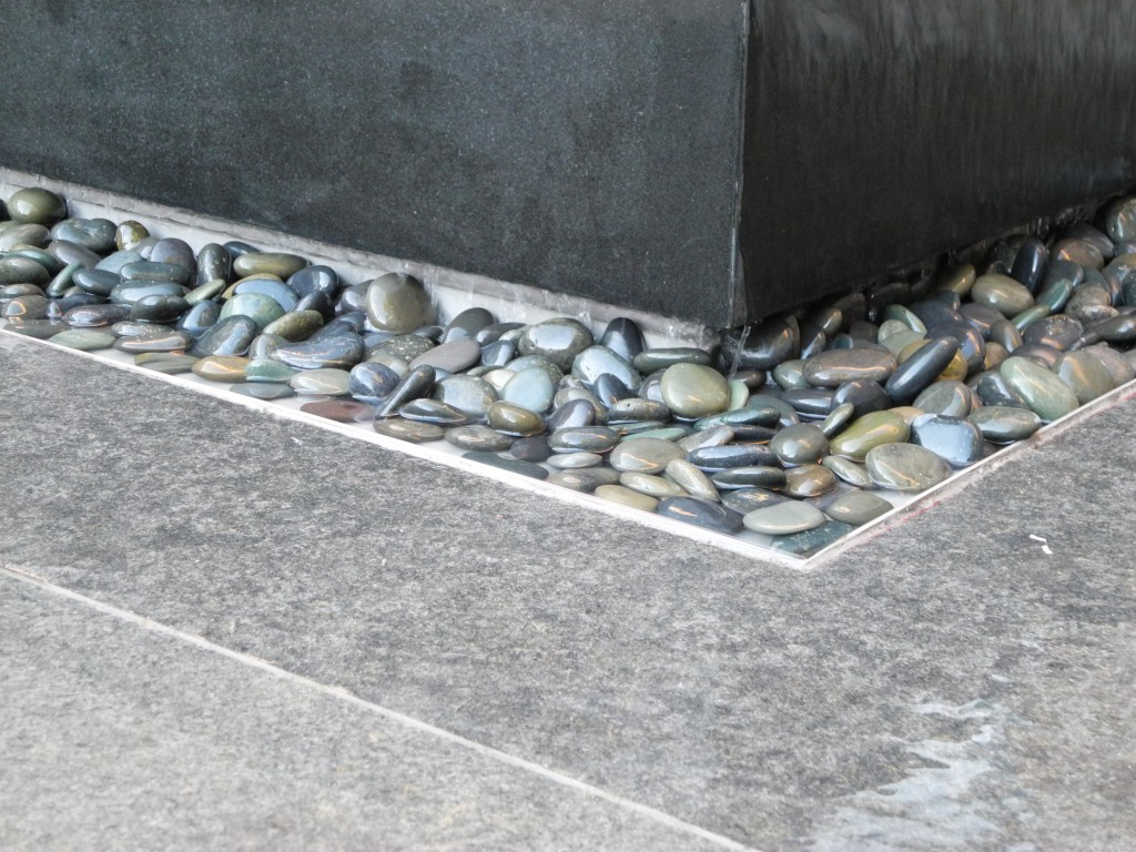 Granite, Stainless Steel, Water surface and fluid design  UC Berkeley, MSRI, William Glass, FAIA